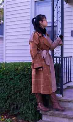 Poe W. verified customer review of Mixer Brown Trench Coat