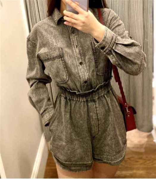 Miko verified customer review of Ashley Grey Denim Romper