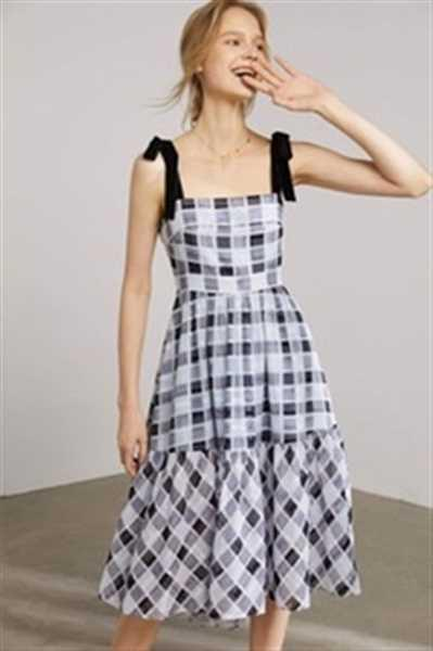 J.ING Dorothy Plaid Picnic Midi Dress Review