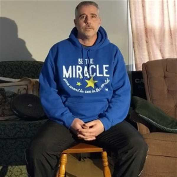 Steven Anthony verified customer review of Be The Miracle Unisex Sweatshirt Hoodie