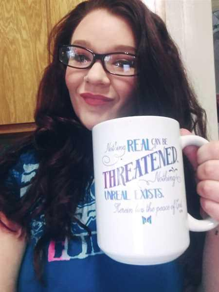 Emerald Kreimendahl verified customer review of Nothing Real Can Be Threatened Mug