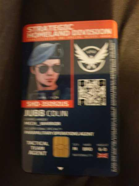 Epic IDs Strategic Homeland Division (SHD) 'The Division' Agent ID Badge [Photo Personalized] Review