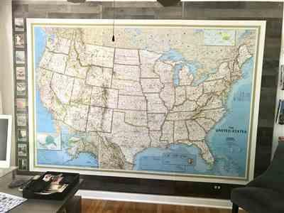 Marc verified customer review of United States Classic Mural Map