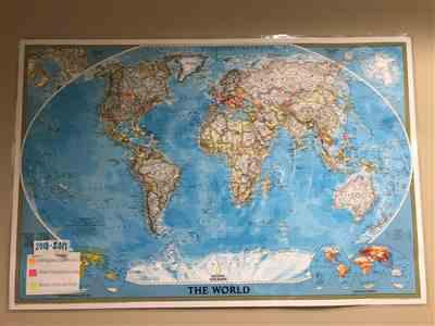 Ellen van Iwaarden verified customer review of World Classic Wall Map - Laminated (36 x 24 inches)