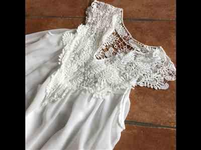 Annette Lawrence verified customer review of Bohemian Lace Patchwork Casual Summer Dress