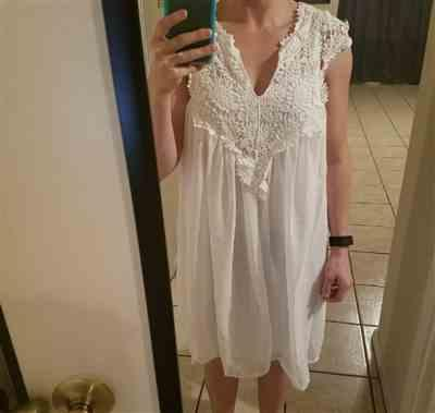 Lorna Smith verified customer review of Bohemian Lace Patchwork Casual Summer Dress