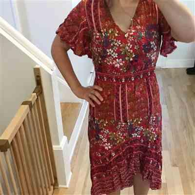 Polly verified customer review of Bohemian Floral Print Long Dress