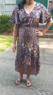 Subhadra verified customer review of Bohemian Floral Print Long Dress