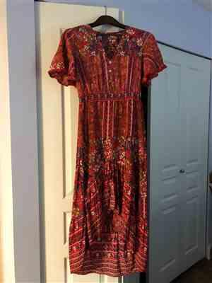 idrees verified customer review of Bohemian Floral Print Long Dress