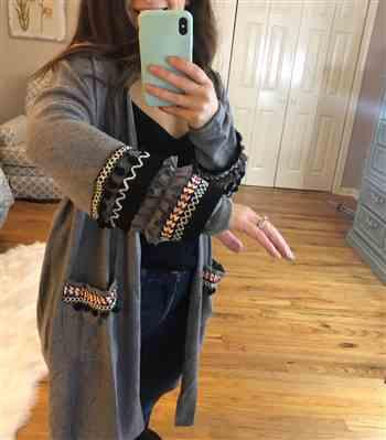 Sara verified customer review of Long Sleeve Knit Cardigan with Pockets