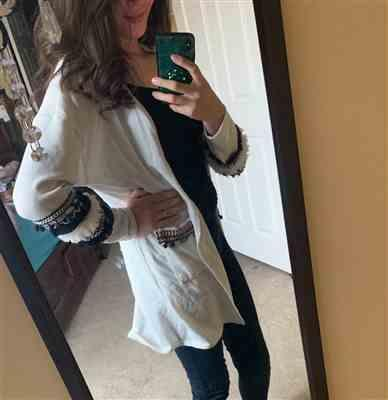 Natalie Lopez verified customer review of Long Sleeve Knit Cardigan with Pockets