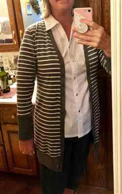 Weslily.com Button Striped Casual Knitted Cardigan Review