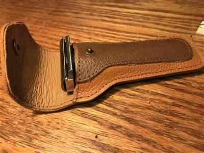 Ernesto A. verified customer review of WCS Leather Safety Razor Case, Brown