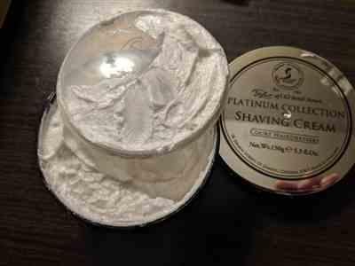 West Coast Shaving Taylor of Old Bond Street Platinum Collection Shaving Cream Review