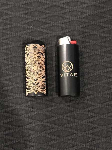 VITAE Glass BIC Engraved Lighter Case Review