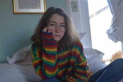 Hannah Aronson verified customer review of STRIPED RAINBOW SWEATER