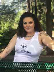 Alicia I. verified customer review of ARTIC WHITE JUSTSTRONG TANK