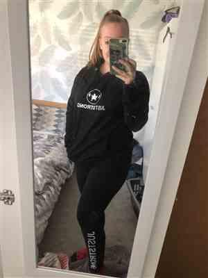Cara A. verified customer review of JET BLACK PULLOVER HOODIE