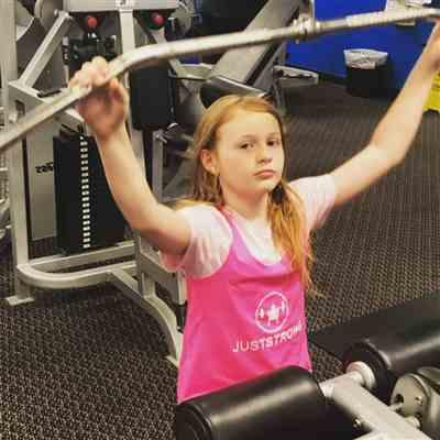 Siobhan C. verified customer review of Pink Just Strong Kids Racerback Tank