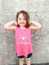 Kelli A. verified customer review of Pink Just Strong Kids Racerback Tank
