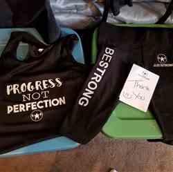Kristi K. verified customer review of PROGRESS NOT PERFECTION TANK