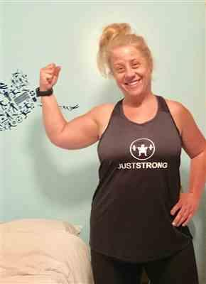 Alicia K. verified customer review of MESH TOP BLACK RACERBACK JUST STRONG TANK