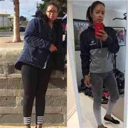Stephanie B. verified customer review of NAVY GREY RETROSTYLE ZIP HOODIE
