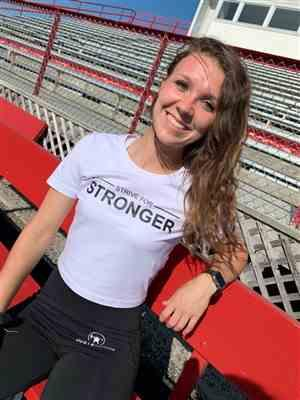 Darion M. verified customer review of WHITE STRIVE FOR STRONGER CROPPED TEE