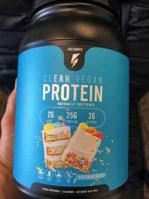 John D verified customer review of Clean Vegan Protein