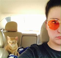 Amber s. verified customer review of Orange Lens / Round Metal Frame