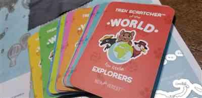 Trisha Smith verified customer review of Newverest Trek Scratcher™ of the World - Kids Edition