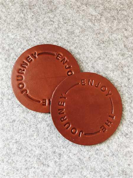 Ugmonk Leather Coasters (Enjoy the Journey - Set of 2 - Brown) Review