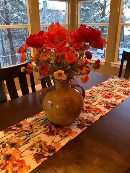 Anonymous verified customer review of Poppy Silk Flower Bush in Orange Flame