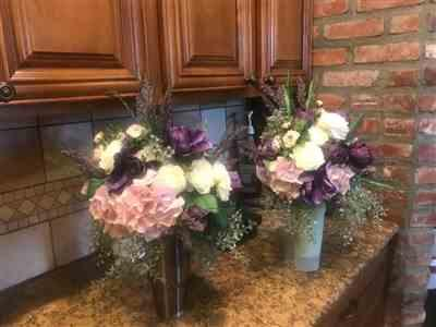 Barbara F. verified customer review of Hydrangea and Ranunculus Purple Silk Wedding Bouquet
