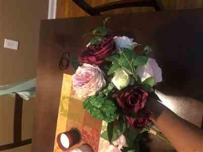 Anonymous verified customer review of Faux Bridal Bouquet in Burgundy and Mauve
