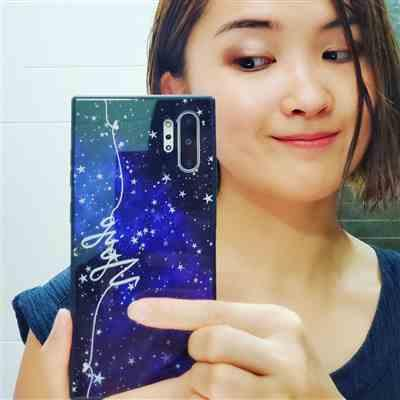 Yoyo Chu verified customer review of Stardust Samsung Note 10 Plus Glass Case