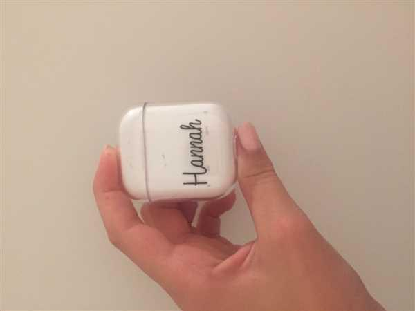 Hanogram Personalized Name III Airpods Case Review