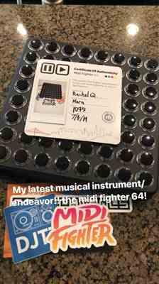 Rachel Q. verified customer review of Midi Fighter 64
