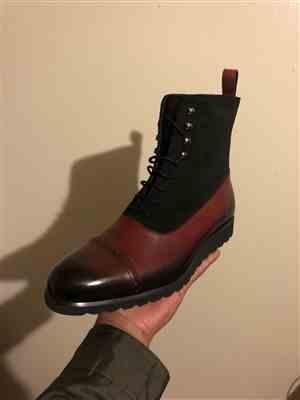 Floyd verified customer review of SG Logan High Top Boots – Cherry + Black