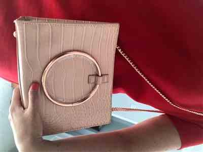 Miss K. verified customer review of Moda Croc Top Handle Bag (Nude Peach/Rose Gold)