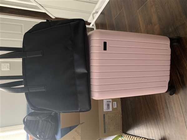 Brittany verified customer review of Black Weekender Bag with Back Sleeve