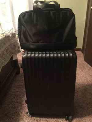 denise d verified customer review of Black Weekender Bag with Back Sleeve