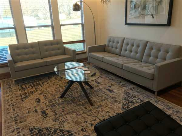 Valerie Hostetter verified customer review of Florence Knoll Sofa - Florence Knoll Two Seater Sofa, Light Gray