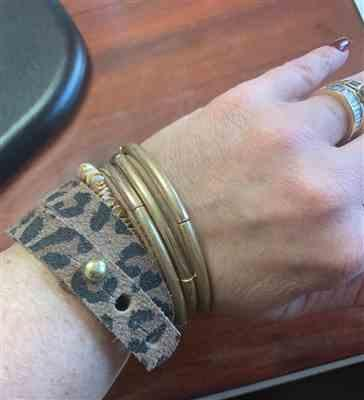 Debbie Christian verified customer review of Leopard Print Leather Wrap Bracelet