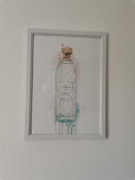 We Love Prints Gin Bottle Wall Art Print 'Hebridean Hue' Review