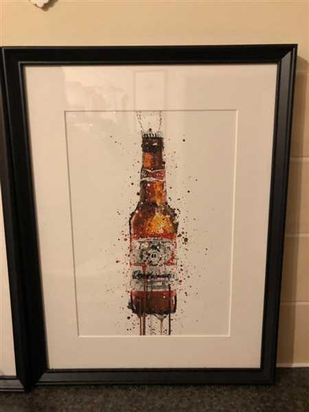 We Love Prints Beer Bottle Wall Art Print 'Amber' Review