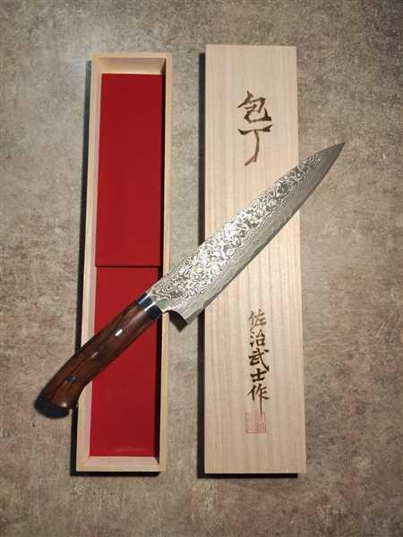 Nicolas Hoffmann verified customer review of Takeshi Saji R-2 Custom Black Damascus Wild Series Gyuto (180mm to 270mm, 4 sizes, Ironwood Handle)