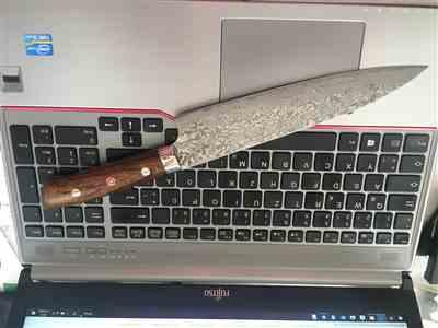 Juergen P. verified customer review of Takeshi Saji R-2 Custom Black Damascus Wild Series Gyuto (180mm to 270mm, 4 sizes, Ironwood Handle)