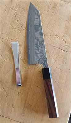 Kurt S. verified customer review of Fu-Rin-Ka-Zan R-2 Damascus Wa Series FRN-7 Bunka 185mm (7.2 inch, Octagon Shaped Red-Sandalwood Handle)