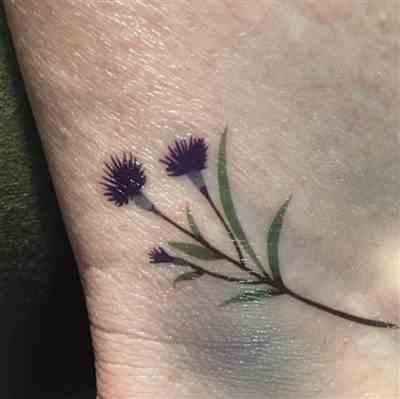 Raquel L. verified customer review of Cornflower Temporary Tattoo by Zihee (Set of 3)